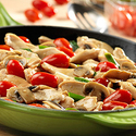 Chicken with Grape Tomatoes & Mushrooms
